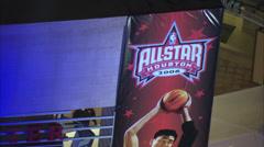 Houston Toyota Center Sign Stock Footage