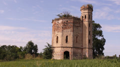 Stock Video Footage of Castle Tower in Ecka village in Serbia 1 of 5 (4 sequences)  multiple shots