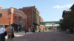 DISTILLERY DISTRICT IN TORONTO, ONTARIO 2 Stock Footage
