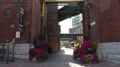 DISTILLERY DISTRICT IN TORONTO, ONTARIO 4 Stock Footage