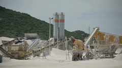 Production of stone in the quarry in Croatia Stock Footage