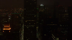 Houston Nighttime Skyline Arkistovideo
