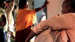 Villagers inside train in Bengal, India. Stock Footage