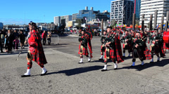 Auckland pipe band Stock Footage