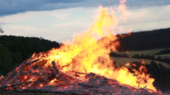 Big Fire Elements - Fast and Big Hellfire - stock footage