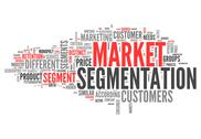 Stock Illustration of word cloud market segmentation