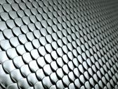Stock Illustration of close-up of scales textured metallic chrome background