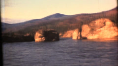 Vintage 16mm film, Yukon river narrows Stock Footage