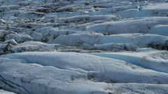Aerial view of Ice slabs a Glacier constantly moving, Arctic Region - stock footage