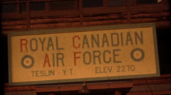 Vintage 16mm film, Royal Canadian Air Force Stock Footage