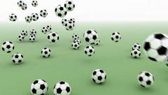Falling Soccer Balls Stock Footage