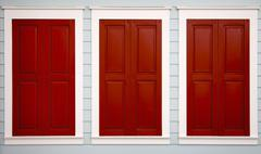 triple shutters - stock photo