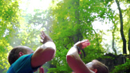 Stock Video Footage of Couple giving each other high-five, closeup slow motion shot at 240fps