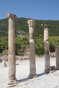 Corinthian columns near the agora Stock Photos