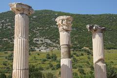 Stock Photo of corinthian columns near the agora