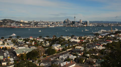 Auckland skyline 001 Stock Footage
