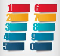 Info graphics banners with numbers and litters..retro design template. vector Stock Illustration