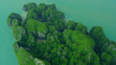 Aerial view Phi Phi Island, Krabi, Thailand Stock Footage