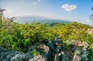 Stock Photo of beautiful aerial landscape views from crowders mountain near gastonia north c