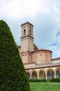the monumental graveyard of ferrara city - stock photo