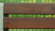 Stock Video Footage of Brown wooden planks of bench with blank copy space.