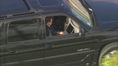 Men in Black SUV Stock Footage