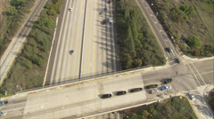Black Cars on Overpass Stock Footage