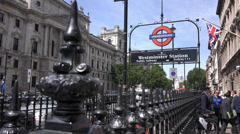 Westminster Underground station The London tube Stock Footage