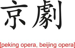 Chinese Sign for peking opera, beijing opera - stock illustration