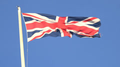 British flag in the wind - stock footage