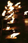 oil lamps - stock photo