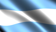 Stock Video Footage of Argentine flag waving in the wind. Looping animation