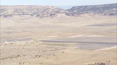 Desert Pond Mountains Stock Footage