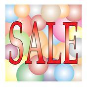 Sale on light colorful ball festival Stock Illustration