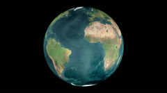 Globe Earth, Realistic Earth Rotating on black background  - stock footage