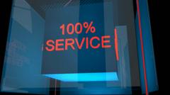 service cube - stock footage
