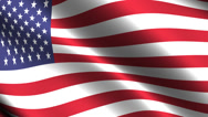 Stock Video Footage of USA. Flag waving in the wind. Looping animation