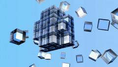 Glass cubes Stock Footage