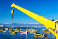 Stock Photo of fishing boats in coquimbo