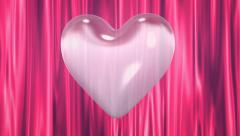 Love Heart with Curtain Background - stock footage