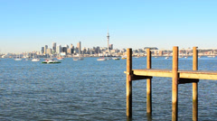Auckland skyline 007 Stock Footage