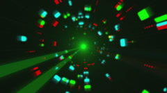 Futuristic Light Tunnel 1 Stock Footage