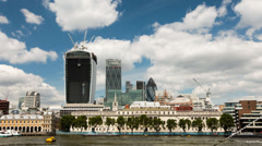 Time-lapse of the London financial district and the Walkie Talkie building Stock Footage
