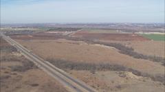 Desert Highway City Stock Footage