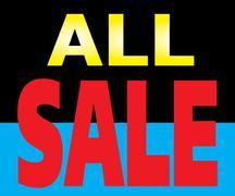 all sale promotion label - stock illustration