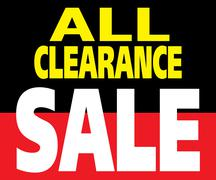all clearance sale promotion label - stock illustration