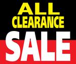 Stock Illustration of all clearance sale promotion label