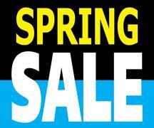Stock Illustration of spring sale promotion label