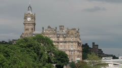 Balmoral hotel, princess street, edinburgh, scotland Stock Footage
