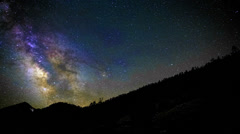 Amazing Milky Way Timelapse Over Mountain Vista Stock Footage